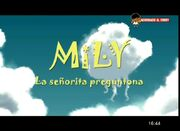 Logo de Mily, señorita preguntona