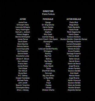 Créditos del doblaje argentino de Django sin cadenas (TV) (TNT)