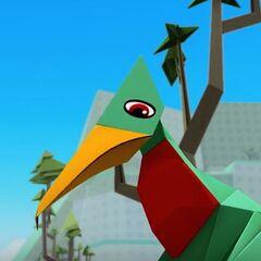 Flap, el pájaro fregata en <a href=