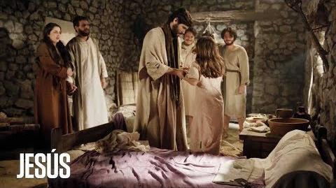 Jesús Jesús revive a la hija de Jairo, uno de sus grandes enemigos