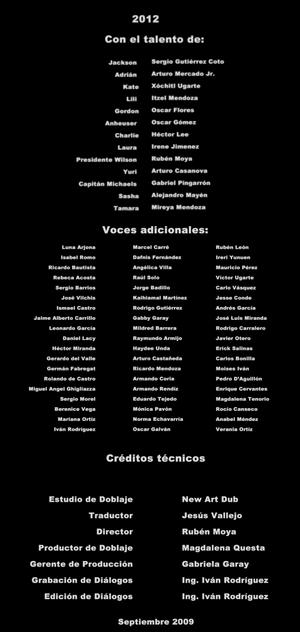 2012 CREDITOS