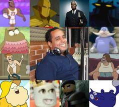 David y algunos de sus personajes