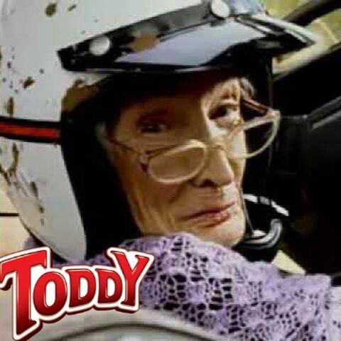 Voz oficial de la <i>Abuela Toddy</i> de la marca <i>Toddy</i> durante los 80's
