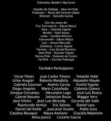 Doblaje Latino de Futurama La Gran Película de Bender