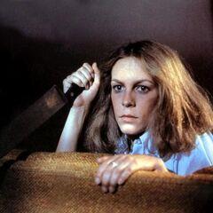 Laurie Strode en la película de terror <a href=