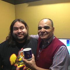 Ricardo Méndez junto a Salvador Najar