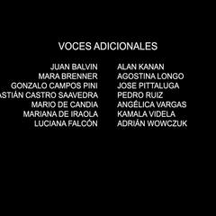 Voces adicionales episodio 3.