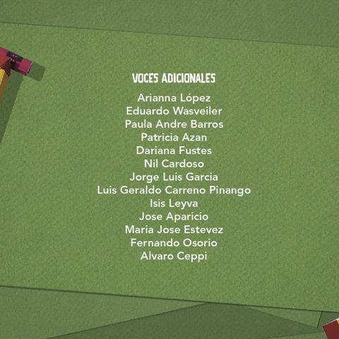 Voces adicionales (segunda temporada).