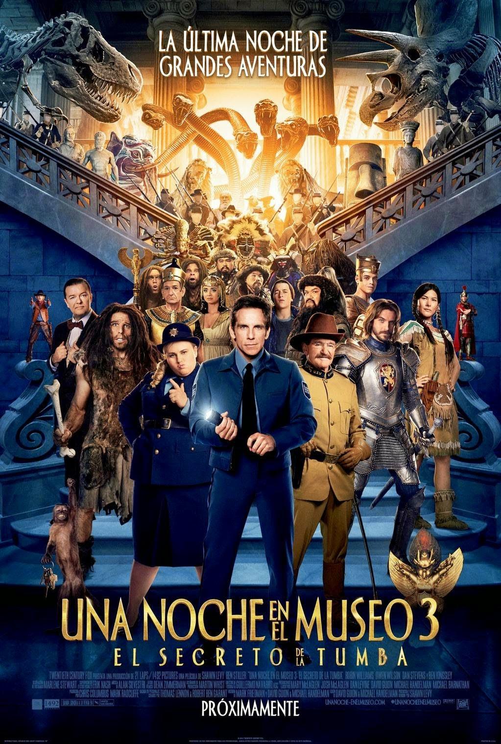 Una Noche En El Museo 3: El Secreto De La Tumba [2014] [1080p BRrip] [Latino-Inglés] [GoogleDrive]