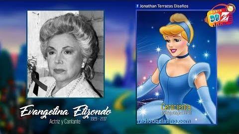 Evangelina Elizondo, la Voz original de Cenicienta -Q.E.P.D