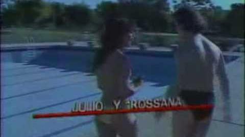 """Tanda comercial TVN 1989 entre fin de pelicula y comienzo de """"Con ustedes.."""