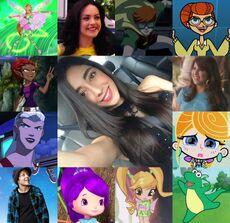 Ivanna y algunos de sus personajes