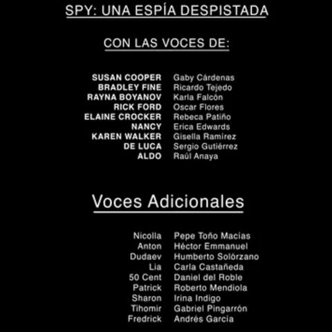 Créditos del DVD y Blu-ray