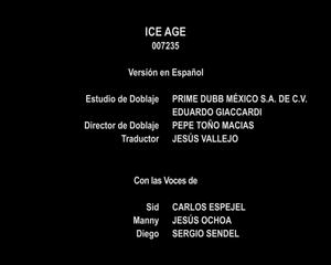 Creditos Doblaje La era de hielo (Disney+) (2)
