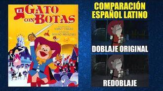 El Gato con Botas -1969- Doblaje Original y Redoblaje - Español Latino - Comparación y Muestra
