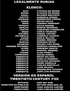 Doblaje Latino de Legalmente Rubias