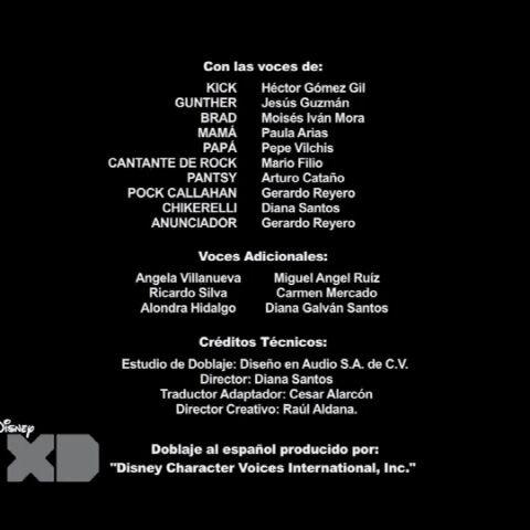 Creditos de doblaje<br />(2da temporada)