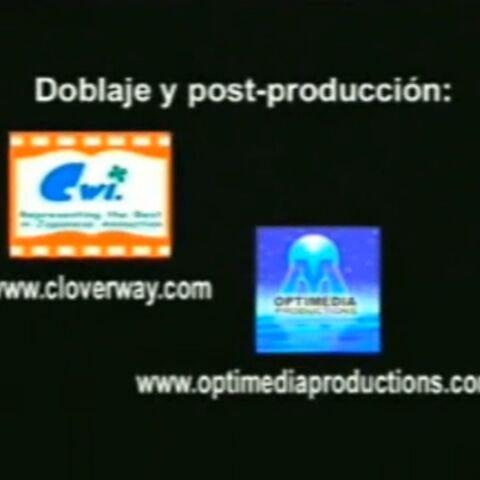 Créditos de distribución y post producción del doblaje emitidos por TVX (El Salvador)