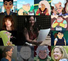 Valentina y algunos de sus personajes