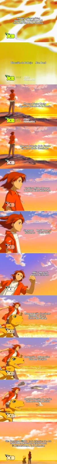 Créditos de doblaje de Digimon Data Squad