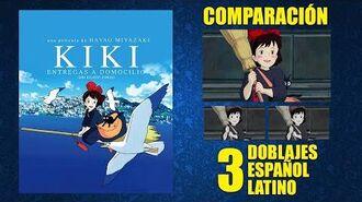 Kiki- Entregas a Domicilio -1989- Doblaje Original y 2 Redoblajes - Español Latino - Comparación
