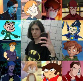 David y algunos de sus personajes-0