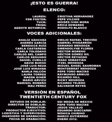 Doblaje Latino de ¡Esto es Guerra!