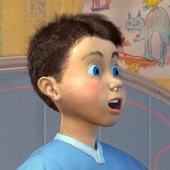 Niño animatrónico del simulador en <a href=