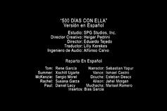 Créditos de doblaje de (500) Días con Ella (DVD)