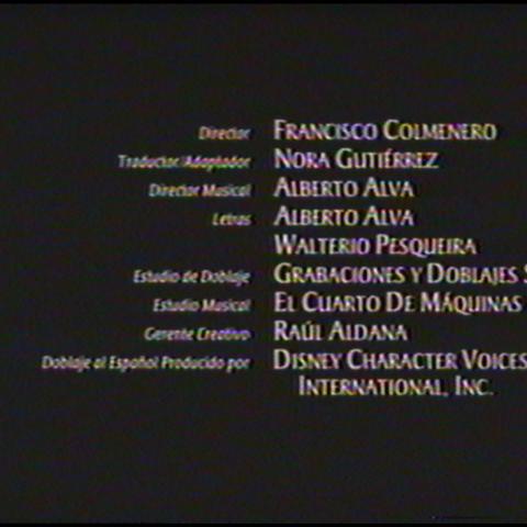 Créditos Técnicos del Videocassette