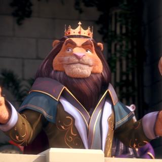 Rey león en <a href=