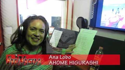 Ana Lobo AHOME HIGURASHI saludo desde OPTIMEDIA BOND MÉXICO Grabación capítulos 161-167