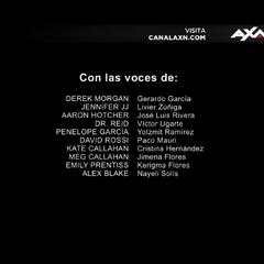 Créditos de la décima temporada (voces).