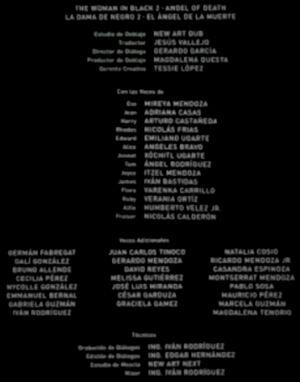 Doblaje Latino de La Dama de Negro 2 El Ángel de la Muerte (Versión Cine)