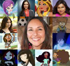 Yasmil y algunos de sus personajes