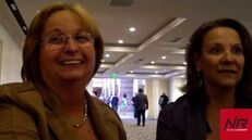 Liliam Hernandez y Elisa Aquino, de Universal Cinergia Dubbing