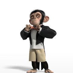 Toto, el chimpancé en <a href=
