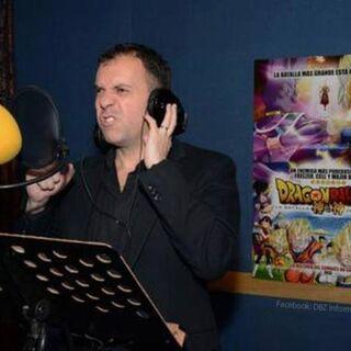 René García en la grabación de la película