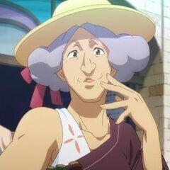 Anciana cultista de Axis en <a href=