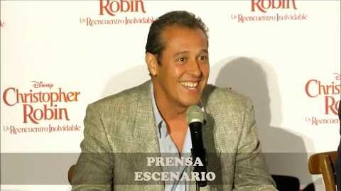 CHRISTOPHER ROBIN - CONFERENCIA DE PRENSA
