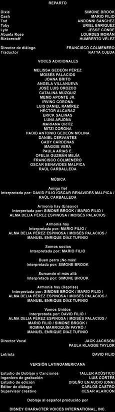Doblaje Latino de El Zorro y El Sabueso 2 (Edición Especial 2011)