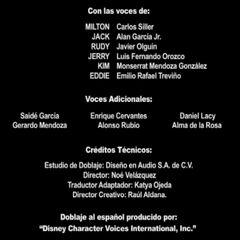 Créditos de Doblaje (2da Temporada)
