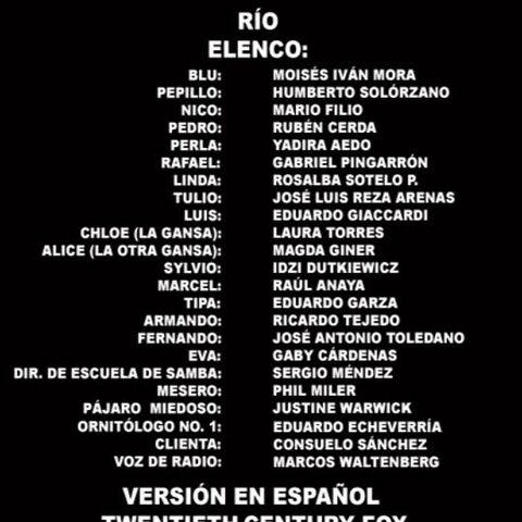 Créditos del DVD<br />(Español Mexicano)