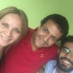 Maggie Vera, Arturo Mercado Jr. (Sky) y Emmanuel Esquivel. (18/08/16)