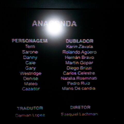 Créditos de la TV (Redoblaje argentino)