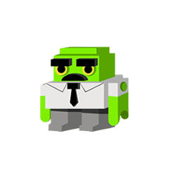 3D Empleado cubo (1ª Voz) en <a href=
