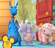 Stuffy, lambie and pickles the bunny
