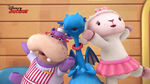 Stuffy, lambie and hallie singing4