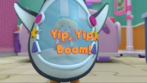 Yip, yip, boom! title