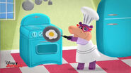 Animated hallie making a fried egg